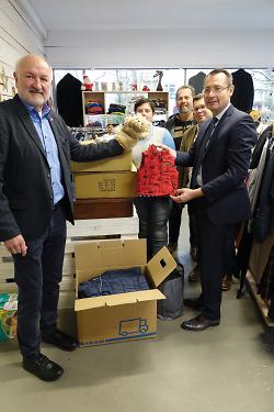 OB Rentschler besucht den Secondhand-Laden CariMa