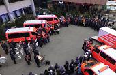 Fünf neue Fahrzeuge an Aalens Feuerwehr übergeben