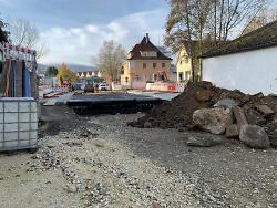 Baustelle der Kocherbrücke