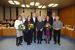 Ehrung langjähriger Mitglieder des Gemeinderats