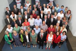 Gruppenbild des Gemeinderats in der konstituierenden Sitzung am 24.07.2014