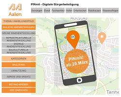 Auf diesem Bild ist eine Übersicht über die Möglichkeiten der PINmit-Kampagne der Stadt Aalen zu sehen.