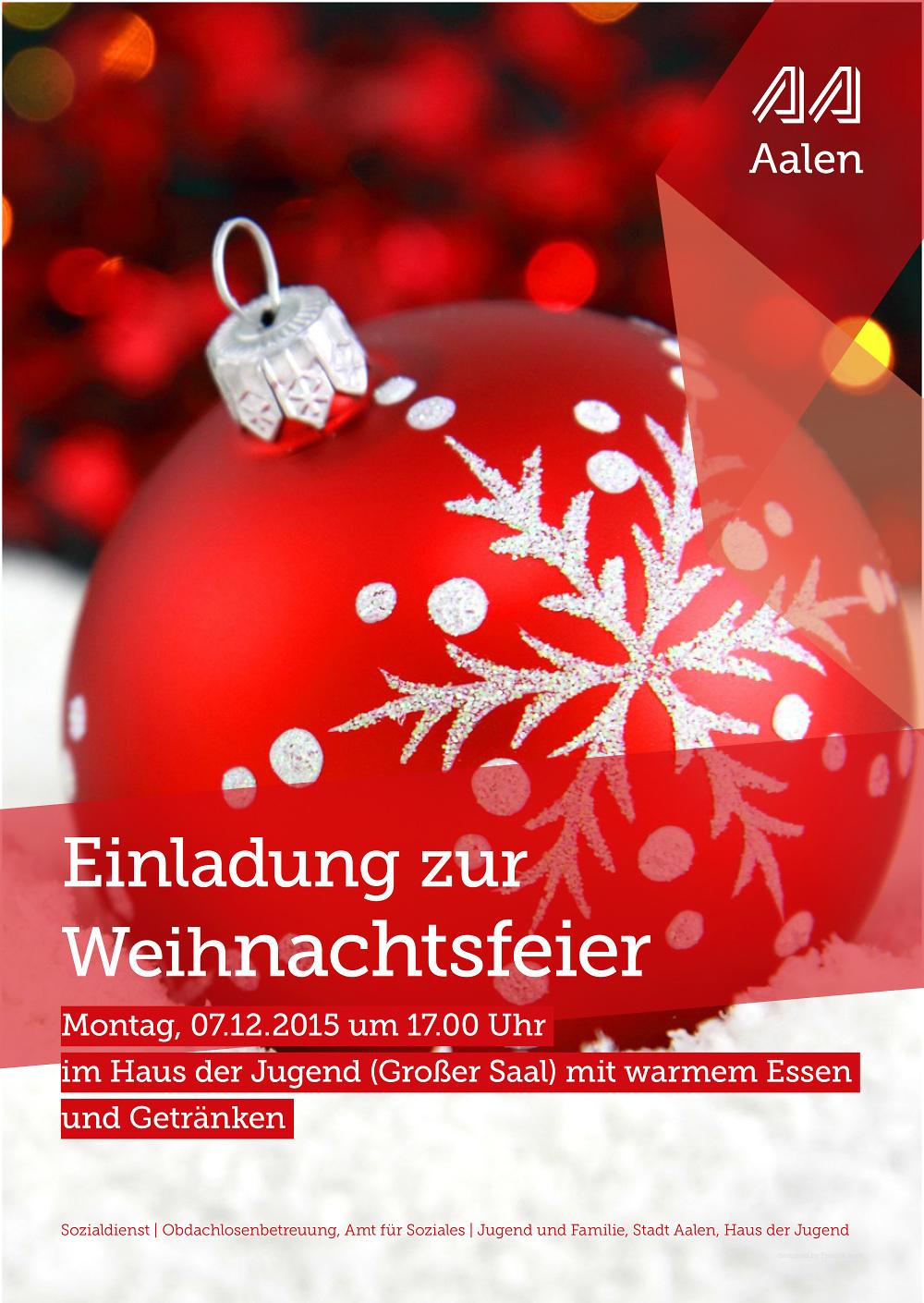 einladung zur weihnachtsfeier - kultur & tourismus