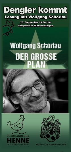 Flyer zur Lesung mit Wolfgang Schorlau