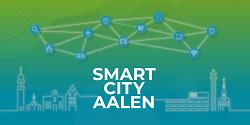 Auf diesem Bild ist der neue Flyer für die Smart City Aalen zu sehen.