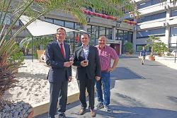 Oberbürgermeister Thilo Rentschler, Erster Bürgermeister Wolfgang Steidle und Citymanager Reinhard Skusa anlässlich der Eröffnung.