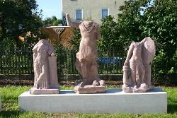 Statuengruppe mit Mars und Victoria