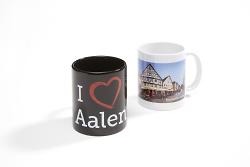 Tasse I love Aalen und Aalener Tasse Panorama