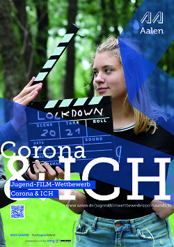"""Auf diesem Bild ist das Titelbild zum Flyer des Jugendfilmwettbewerbs mit dem Titel """"Corona und ich"""" zu sehen."""