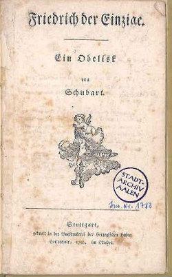 Schubarts Hymnus auf Friedrich den Großen
