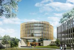 Auf diesem Bild ist die Visualisierung des Digital Innovation Space in Aalen vom Architektenbüro Isin & Co. zu sehen.