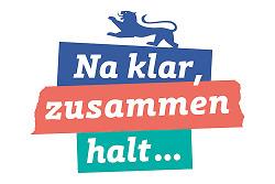 """Auf diesem Bild ist das Logo zum Impulsprogramm """"Na klar, zusammen halt ..."""" der Landesregierung für Aalen-Waldhausen zu sehen."""