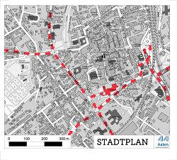 Detaillierter Zufahrtsplan Rathaus Aalen