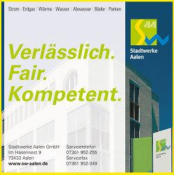 Hauptsponsor Stadtwerke Aalen