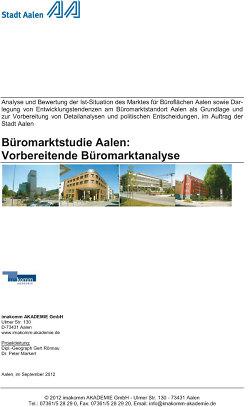 Büromarktstudie - Titelblatt