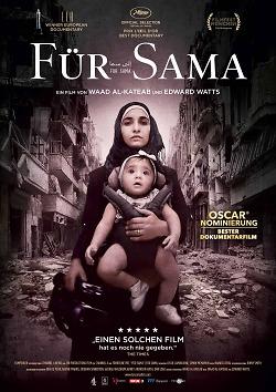 """Auf diesem Bild ist das Plakat zum Film """"Für Sama"""" zu sehen."""