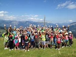 Kindergruppe am Gipfel - Kindererholung
