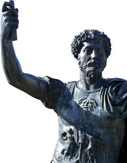 Gebrochener Glanz - Bronzestatue