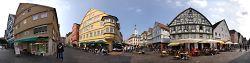 Panorama Marktplatz Aalen