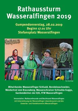 Rathaussturm 2019 - Wasseralfingen
