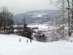 Skihang von oben