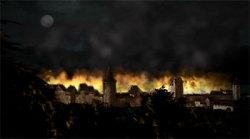 Illustration von Aalen in Flammen