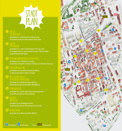 Lage der Plätze in der Stadt