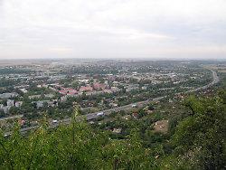 Blick auf die Bergwerkstadt