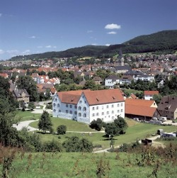 View over Wasseralfingen with the castle in the foreground