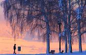 Grußkarte - Winterlandschaft